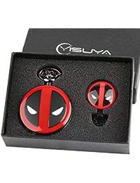 Juego de Tronos de invierno viene reloj de bolsillo Set de regalo para niños hombres Cool 3D lobo Clan Foba reloj con…