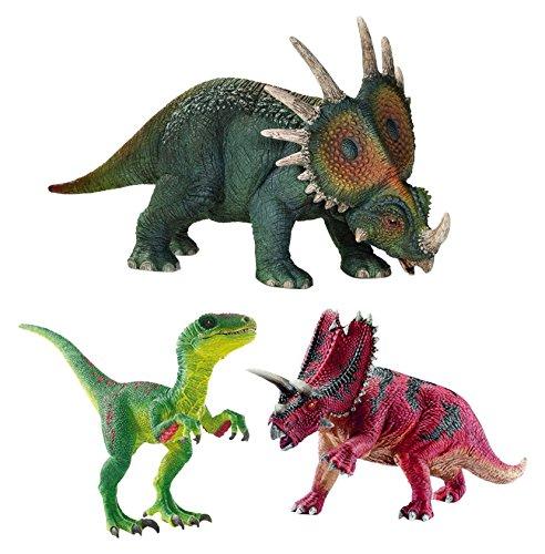 Schleich 42281 Zwei Pflanzenfresser mit Velociraptor