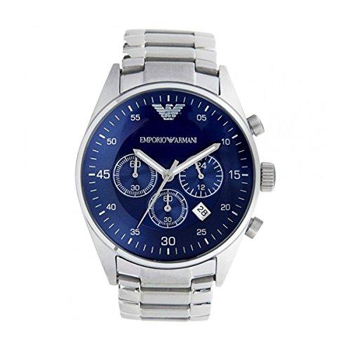 Pour homme Emporio Armani Ar5860à quartz Cadran bleu acier inoxydable montre