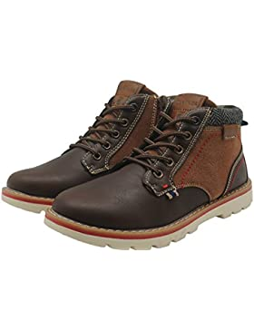 Best-choise Zapatos Para Niños PU Leather Boy'S Boots Lace Up Hiking Sneaker