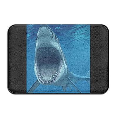 """YJCLUB Cool Doormats Sea Shark Nice Door Mat Welcome Mat Non-slip Doormat Coral Fleece Indoor Outdoor Kitchen Floor Rug Front Door Mat Funny Flannel Carpet 15.7"""" X 20.3"""""""