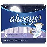 Always Maxi Damen Slipeinlagen mit Flügeln, sehr saugfähig, geruchlos, 20 Stück pro Packung, 40 Stück