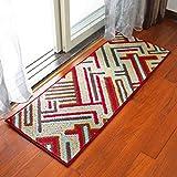 AWYY Teppich Europäische Mat Matratze Tür Eingang Küche Lange Fuß Pad Tür zum Badezimmer Tür Bad Anti - Skid Saugfähige Pad,60 * 90 cm,Kreuz und quer