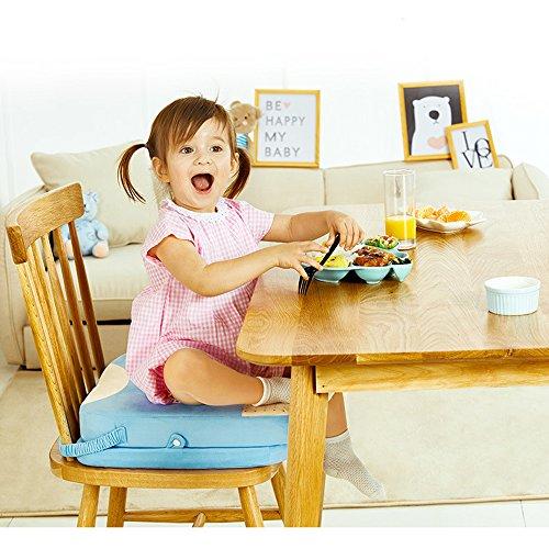 Baby-Sitzkissen für das Speisen des Stuhl-Tabellen-Kleinkind-Kind-Säuglings Zerlegbares justierbares waschbarer Zusatz-Sitz mit Bügeln, die Stuhl-Sitzplatz-Auflage-Stuhl-zunehmende Kissen-Reise CompuClever speisen (3-sitz Kleinkind Tabelle)