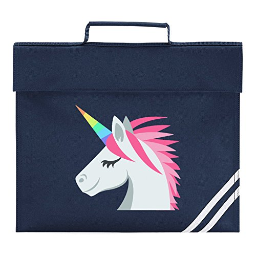 Emoji Unicorn Face Book Bag, French Navy