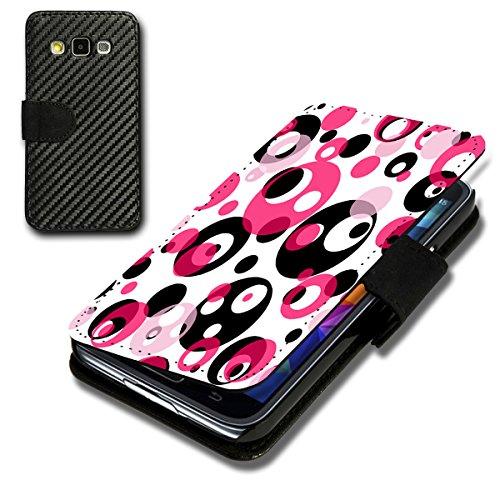 4608 Sb (Book Style Carbon Flip Handy Tasche Hülle Schale Motiv Foto Etui für Sony Xperia Z3 Compact - Flip CB10 Design2)