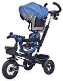 #6: R for Rabbit Tiny Toes Benz - The Stylish and Luxurious Tricycle with Reversible Seat for Kids (Blue)