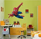Hero Spiderman Grand sticker mural Spiderman pour chambre d'enfant...