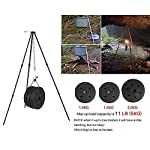 Zerich Camping Tripod Campfire Cooking Dutch Oven Tripod Portable Outdoor Picnic Foldable Cooking Tripod Barbecue Accessory Cooking Lantern Tripod Hanger with Storage Bag for Camping Activities#7824 11