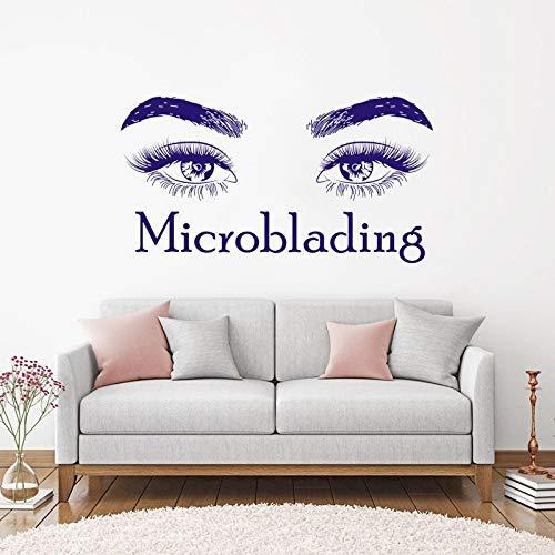 Schönheitssalon Vinyl Kunst Wandtattoo Microblading Bilden Wandkunst Wand Wimpern Make-Up Wandaufkleber Schönheitssalon Dekor 84 * 158 cm