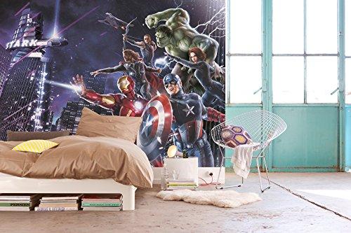 Komar - Marvel - €Fototapetež AVENGERS CITYNIGHT - 184 x 254 cm - Tapete, Wand Dekoration, Superhelden, Comic - 4-343