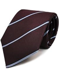 Mexx Seidenkrawatte bordeaux rot blau schwarz gestreift - Krawatte Seide