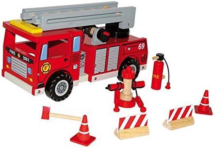 Small foot company - 1527 - Figurine Pompier Avec Accessoires | Léger