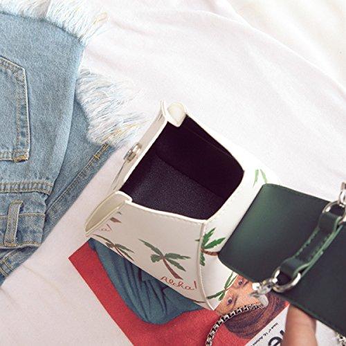 FZHLY Mode Druck Triangular Tasche Frühling Und Sommer-Kette Handtasche Black