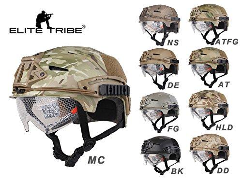 Elite Tribe Airsoft Caza Militar Casco de Combate táctico EXF Bump Casco...