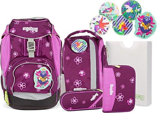 Ergobag Schulrucksack-Set Pack 6-tlg Bärlissima 907 lila blumen