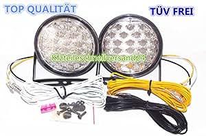 LED et feux de circulation diurne feux de jour lED ronds conforme eCE r87
