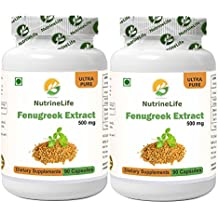 NutrineLife Fenugreek Extract - 90 Capsules, 500 mg (Pack of 2)