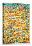 1art1 67716 Paul Klee - Hauptweg Und Nebenwege, 1929 Poster Leinwandbild Auf Keilrahmen 80 x 60 cm