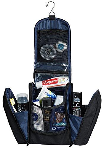 Extragroßer Kulturbeutel   Kulturtasche zum Aufhängen für Damen und Herren, 29 cm (Ocean Blue)