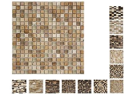 1 Netz Marmor Glas Mosaik Cream 15 Ambiente von Mosaikdiscount24 auf TapetenShop
