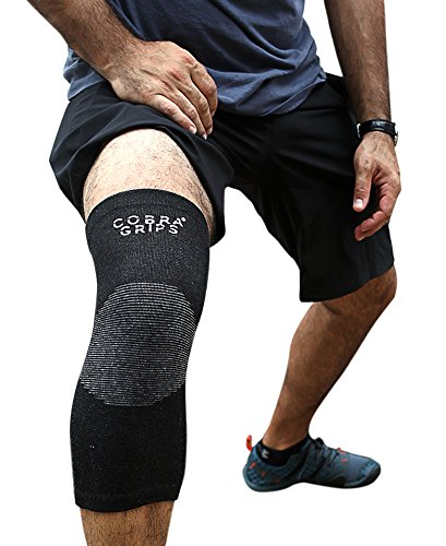 Bamboo Knee Support Sleeves (Pair) for Joint Pain and Arthritis Relief, Improved Circulation Compression – Effective Support for Running, Jogging,Workout, Walking, Hiking and Recovery (Black, Small)