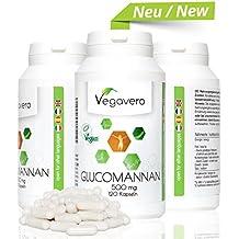 Dimagrante Naturale Glucomannano - Fibra di radice di Konjac Vegavero | Metabolismo - Colesterolo - Stitichezza - Appetito | 100% Naturale - No Glutine e Lattosio | Soddisfatti o rimborsati