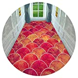 HAIPENG-alfombras pasillo Corredor Personalizado Alfombras Antideslizante Estera para Cocina y Entrada, Naranja Roja (Color : A, Tamaño : 1.6x1m)