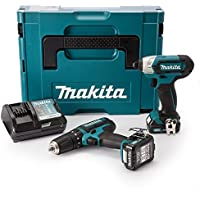 Makita CLX202AJ 10.8V Cxt 2x2.0Ah Li-Ion Combi/Impact Driver Kit, 1 Stück