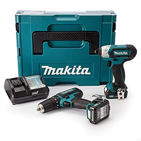 Makita CLX202AJ 10.8 V CXT Combi and Impact Driver with