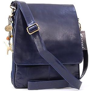 CITY A4 size Business Office Work Bag Catwalk Collection Handbags Womens Leather Cross Body Messenger Bag