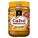 3 X Calvé Pindakaas met stukjes noot - Erdnußbutter mit stückchen Nuß - 650g