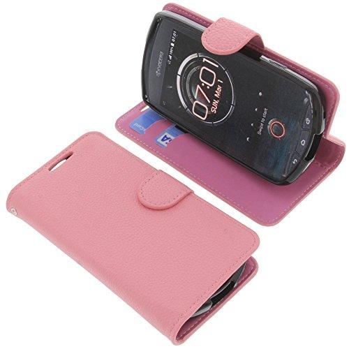 foto-kontor Tasche für Kyocera KC-S701 Torque Book Style rosa Schutz Hülle Buch
