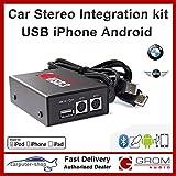 Grom Audio (USB3) USB iPhone Android kit d'intégration de l'autoradio pour BMW et Mini (changeur CD montage)
