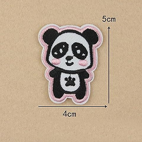 Cartoon Giraffe Bee Panda Patch Coudre le fer sur le transfert Badge Applique brodée