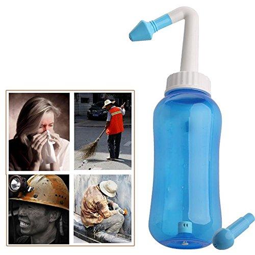 NASAL Spülen Nase Waschen System Neti Pot für allergische Rhinitis Baby nettyuk 300ml Nasal Sinus Rohrfrei (blau) (E Pot Net)
