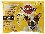 Pedigree Vital Protection/Hochwertiges Hundefutter mit Huhn, Rind und Gemüse in Sauce, 400 g