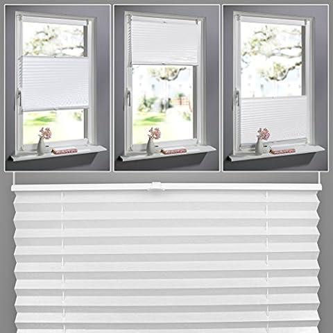 SHINY HOME Veneciana de PVC Ventana Persianas Trimmable Home Office estor nuevo, Blanco, 60cm x 130cm