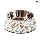3aprile in Acciaio Inox a Doppia Ciotola Ciotola del Cane Pet Ciotola melamina Nutriti e Abbeverati Cat Accessories