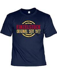 Geburtsjahr 1977 T-Shirt zum 40. Geburtstag EINZELSTÜCK ORIGINAL seit 1977 Geburtstagsgeschenk Geschenkidee 40 Geb für Ihn ein liebes Geschenk mit Jahrgang 1977 klassisches Shirt : )