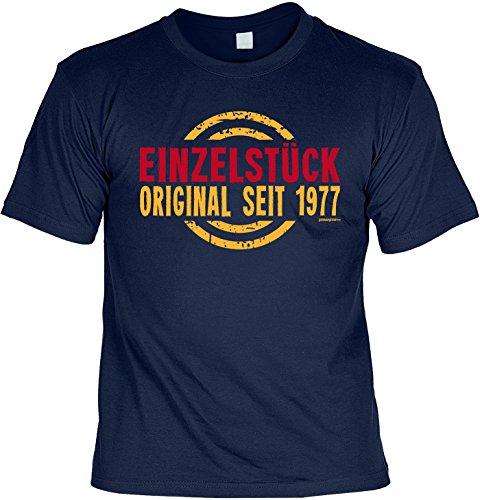 T-Shirt zum Geburtstag: Einzelstück, Original seit 1977 - Tolle Geschenkidee - Baujahr 1977 - Farbe: navyblau Navyblau