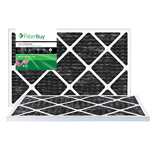 filterbuy Allergen Geruch Eliminator Merv 8Bundfaltenhose AC Ofen Air Filter mit Aktivkohle, 2Stück (20x16x1 Ofen-filter)