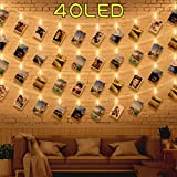 40 Guirlande Lumineuse Photo Interieur Chambre - 5M Guirlande Photo Clip Porte Photo Mural Accroche Photo Guirlande Pince Lumineuse Exterieur