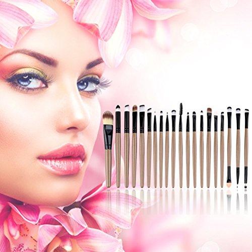 20 pcs Professionnel Maquillage Beauté Cosmétique Blush Brosses D'or Kits
