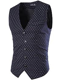LIANIHK Diseñador Trajes blazers Chaleco para Hombre