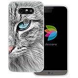dessana Katzen Transparente Silikon TPU Schutzhülle 0,7mm Dünne Handy Tasche Soft Case für LG G5 Maine Coon