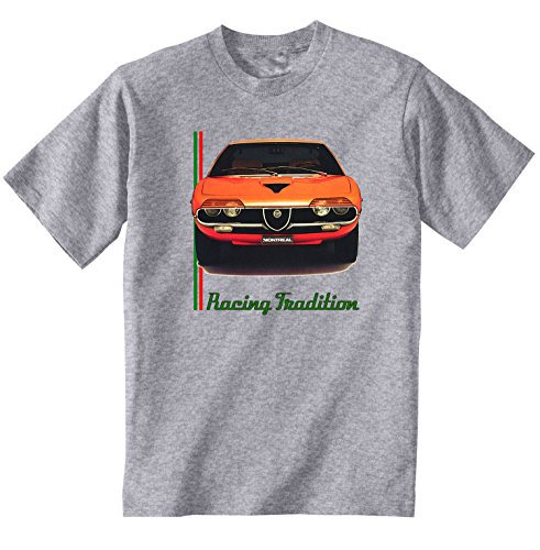 TEESANDENGINES Men\'s ALFA Romeo Montreal Inspired Grey T-Shirt Size XXXLarge