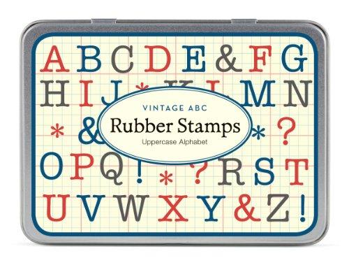 30 Timbri Di Gomma Lettere Maiuscole Mini Dell'Alfabeto Disegno Vintage Cavallini