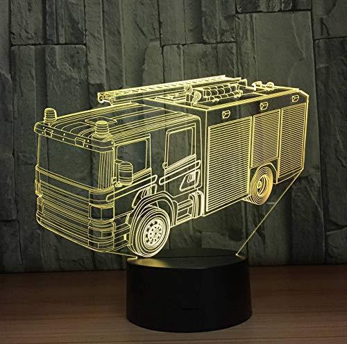 Led Feuerwehrauto 3D Nachtlicht 7 Farben Schreibtisch Tischlampe Led Festzelt Brief Licht Wohnkultur Geschenke (Halloween-farbe Per Brief)