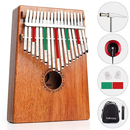Bells & Chimes African Kalimba Thumb Piano Key Sticker For Beginner Musical Gift 12x1.5cm Sports & Entertainment